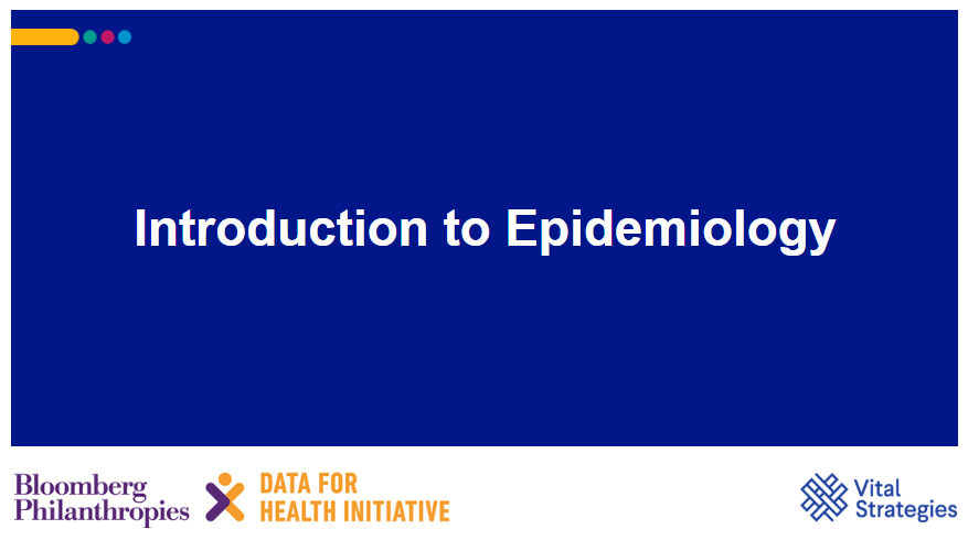 Course Image Introduction to Epidemiology