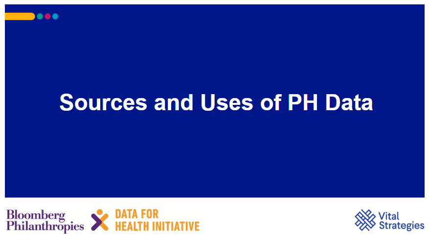Course Image Sources and Uses of PH Data