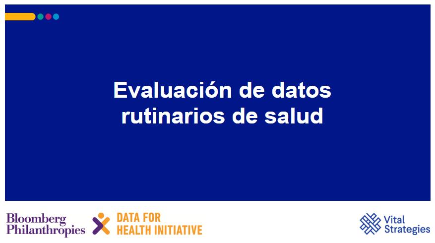 Course Image Evaluacion de datos rutinarios de salud