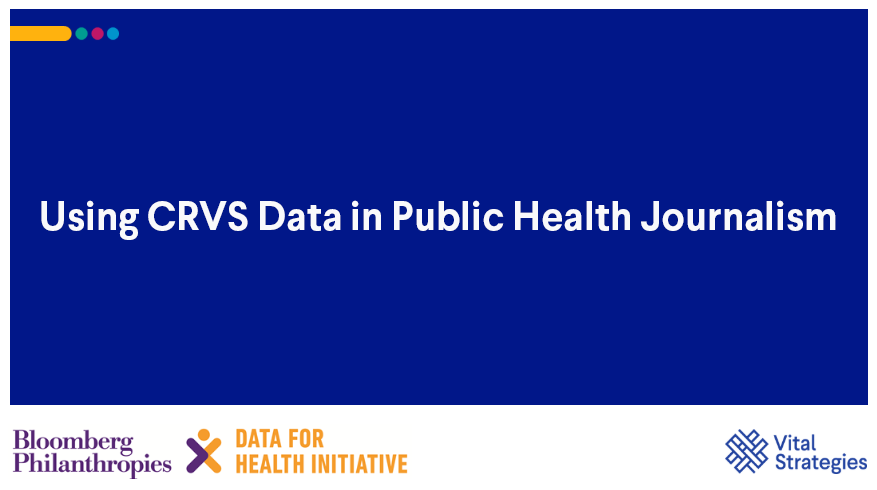 Course Image Using CRVS Data in Public Health Journalism