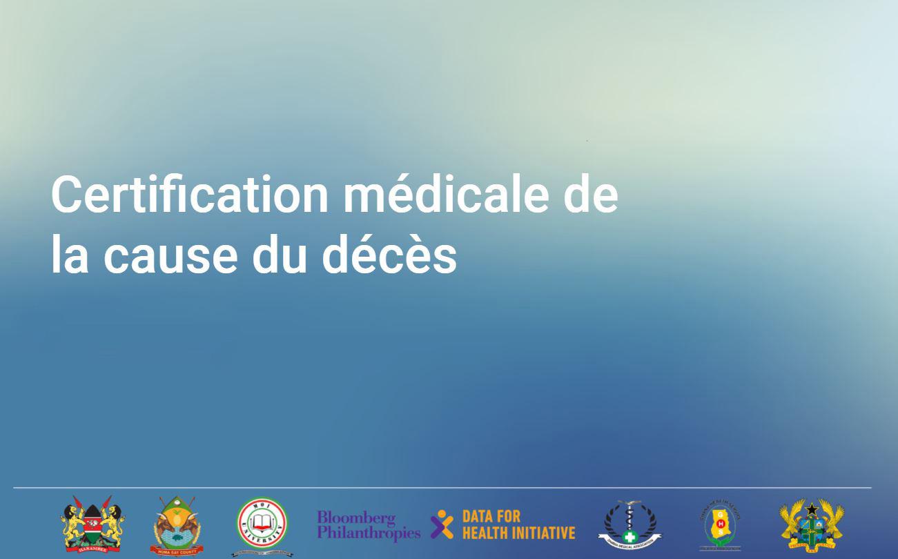 Course Image Certification médicale de la cause du décès